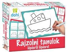 Poučna igra tabla Riši in briši Boys Dohány Učimo se risati s pomočjo sličic za dečke
