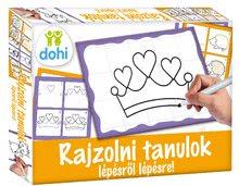 Družabna igra tabla Riši in briši Girls Dohány Učimo se risati s pomočjo sličic za deklice