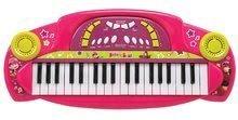 Detské hudobné nástroje - Hudobné piano Máša Smoby elektronické so zvukmi ružové_0