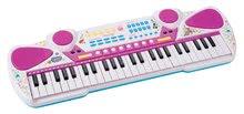 Detské piano Maggie&Bianca Smoby elektronické so 49 klávesami a napojením a audio prehraváč od 5 rokov ružové