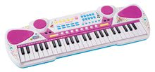 Pian Maggie&Bianca Smoby electronic cu 49 de clape și audio player roz de la 5 ani