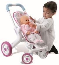 Kočárky od 18 měsíců - Baby nurse kočárek Poussette Pop sportovní Smoby sportovní, výška rukojeti 53,5 cm, od 18 měsíců_2