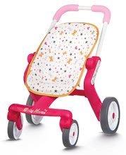 Kočárky od 18 měsíců - Baby nurse kočárek Poussette Pop sportovní Smoby sportovní, výška rukojeti 53,5 cm, od 18 měsíců_0