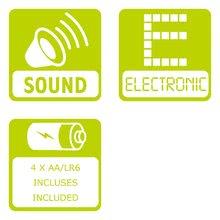 Detské hudobné nástroje - Mikrofón so stojanom Máša Smoby elektronický s hudbou a notami ružový_1