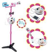 Karaoke álló mikrofon Magie&Bianca Smoby hanggal és fénnyel, mobiltelefonra köthető rózsaszín 5 évtől
