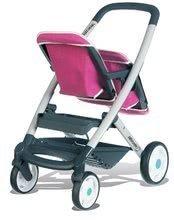 Kočíky od 18 mesiacov - Kočík pre dve bábiky Maxi Cosi & Quinny Twin Smoby (65,5 cm rúčka) ružovo-šedý_1
