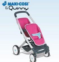 Kočíky od 18 mesiacov - Kočík pre dve bábiky Maxi Cosi & Quinny Twin Smoby (65,5 cm rúčka) ružovo-šedý_2