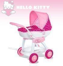 Kočíky od 18 mesiacov - Kočík pre bábiku Hello Kitty Smoby hlboký (55 cm rúčka) bielo-ružový od 18 mes_3