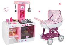 Kočíky pre bábiky sety - Set kočík pre bábiku Máša a medveď Smoby a kuchynka Hello Kitty Cheftronic so zvukmi od 18 mes_11