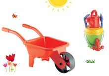 ÉCOIFFIER 541-11 červený detský fúrik na záhradu a vedro set s krhlou od 18 mesiacov