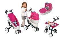 Kočíky od 18 mesiacov - Set kočík pre bábiku Maxi Cosi & Quinny 3v1 Smoby (70 cm rúčka) a sada stolička, autosedačka a hojdačka 3v1 retro_0