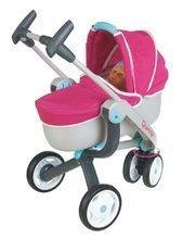 Kočíky od 18 mesiacov - Set kočík pre bábiku Maxi Cosi & Quinny 3v1 Smoby (70 cm rúčka) a sada stolička, autosedačka a hojdačka 3v1 retro_1