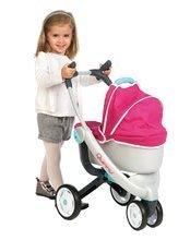 Kočíky od 18 mesiacov - Set kočík pre bábiku Maxi Cosi & Quinny 3v1 Smoby (70 cm rúčka) a sada stolička, autosedačka a hojdačka 3v1 retro_9