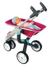 Kočíky od 18 mesiacov - Set kočík pre bábiku Maxi Cosi & Quinny 3v1 Smoby (70 cm rúčka) a sada stolička, autosedačka a hojdačka 3v1 retro_2