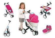 Kočíky od 18 mesiacov - Set kočík pre bábiku Maxi Cosi & Quinny 3v1 Smoby (70 cm rúčka) a sada stolička, autosedačka a hojdačka 3v1 retro_11