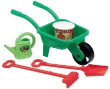 Kolečko Picnic Écoiffier s vědrem, lopatkou, hráběmi a konví 5 dílů zelený od 18 měsíců