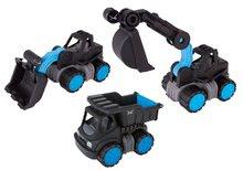 Set pracovních strojů Sansibar BIG Power worker XL 3 druhy s gumovými kolečky od 24 měsíců