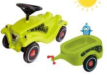 Babytaxiu Bobby Classic Racer BIG cu claxon verde şi remorcă de la 12 luni