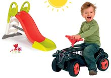 Set odrážadlo pre deti auto Fulda Bobby Car BIG a šmykľavka Toboggan KS s vodou od 12 mesiacov