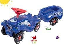 Set odrážedlo auto Ocean BIG Bobby Car Classic modré a přívěsný vozík od 12 měsíců