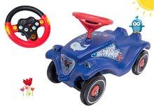 Set odrážadlo auto Ocean BIG Bobby Car Classic modré a interaktívny volant so zvukom a svetlom od 12 mes