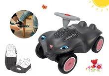 Set babytaxiu maşină Panther BIG New Bobby Car negru şi husă de protecţie pentru pantofi de la 12 luni