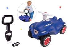 Set babytaxiu maşinuţă Royal blue BIG New Bobby Car albastru şi spătar şi mâner premergător de la 12 luni