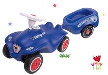 Set babytaxiu maşină Royal Blue BIG New Bobby Car albastru şi remorcă de la 12 luni
