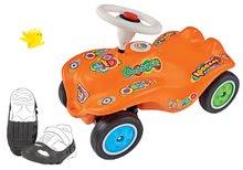 Babytaxiu maşină Retro-Look New Bobby Car BIG portocaliu şi husă protecţie pentru pantofi de la 12 luni