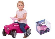 Odrážadlá sety - Set ružové odrážadlo New Bobby Minnie s klaksónom a ružové skladacie autíčko Mini Bobby od 12 mes_13
