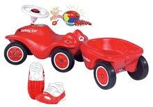 Odrážadlo New Bobby BIG+prívesný vozík+ochranné návleky na topánky veľkosť 21-27+klaksón so svetlom a zvukmi BIG56200-3