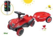Set babytaxiu maşinuţă Next Bobby Car BIG roşu şi remorcă ovală şi semafor de la 12 luni