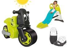 Szett bébitaxi kismotor Racing Bike BIG, cipővédő huzat és csúszdaToboggan KS 18 hónapos kortól