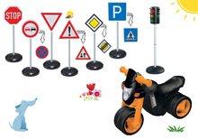 Szett bébitaxi kismotor Sport Bike BIG elektronikus dudával és közlekedési táblák 10 fajta, jelzőlámpa 18 hó-tól