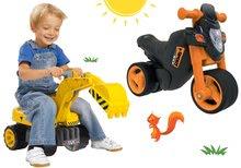 Set babytaxiu motocicletă Sport Bike BIG cu claxon electronic şi graifer Maxi Power, scaun de la 18 luni