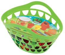 Košík s zahrádkářským nářadím Écoiffier s 11 doplňky od 18 měsíců zelený