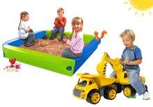 Set pieskovisko BIG s krycou plachtou+bager so sedadlom a nákladné auto BIG56726-17