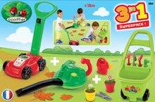 Hry na záhradníka - Kosačka a vysávač na lístie Écoiffier s vozíkom Jardin&Saisons 3v1 od 18 mes_7