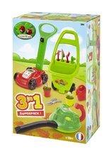 Hry na záhradníka - Kosačka a vysávač na lístie Écoiffier s vozíkom Jardin&Saisons 3v1 od 18 mes_6