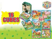 Rozprávkové kocky Domáce zvieratká Dohány 16 dielov