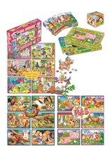 Cuburi cu povești - Cuburi mari cu poveşti Animăluţe Dohány 24 de piese_3