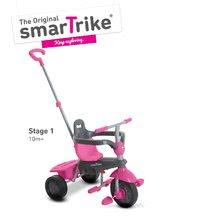 Trojkolky od 10 mesiacov - Trojkolka Breeze Touch Steering smarTrike ružovo-šedá od 10 mes_1