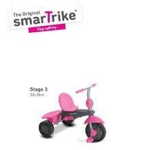 Trojkolky od 10 mesiacov - Trojkolka Breeze Touch Steering smarTrike ružovo-šedá od 10 mes_3