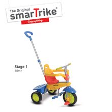 Tříkolka Breeze Touch Steering smarTrike s vodící tyčí od 10-36 měsíců červeno-žlutá