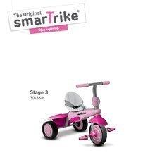 Trojkolky od 10 mesiacov - Trojkolka Breeze Touch Steering smarTrike ružovo-fialová od 10 mes_2
