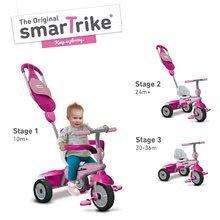 Trojkolky od 10 mesiacov - Trojkolka Breeze GL 3v1 Pink Touch Steering smarTrike ružovo-cyklámenová od 10 mes_1