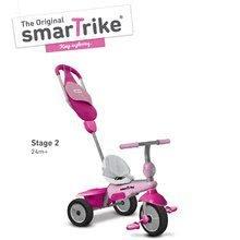Trojkolky od 10 mesiacov - Trojkolka Breeze GL 3v1 Pink Touch Steering smarTrike ružovo-cyklámenová od 10 mes_2