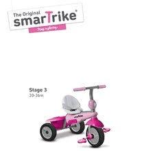 Trojkolky od 10 mesiacov - Trojkolka Breeze GL 3v1 Pink Touch Steering smarTrike ružovo-cyklámenová od 10 mes_3
