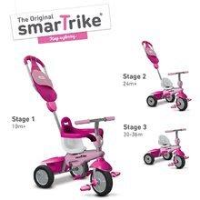 Trojkolky od 10 mesiacov - Trojkolka Breeze GL 3v1 Pink Touch Steering smarTrike ružovo-cyklámenová od 10 mes_0