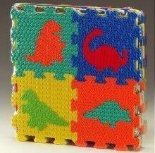 Puzzle din burete Dinozaur pătrate Lee Chyun 16 bucăţi